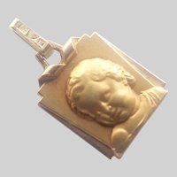 French Art Deco Gold Filled Child Charm - FIX
