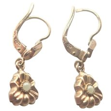 French Art Deco Gold Filled Earrings - ORIA