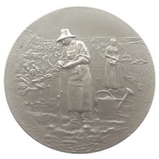 French Circa 1900 Sterling Gardening Medal - A  RIVET