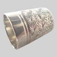 English 'Dorcas' Steel Core Sterling Silver Thimble - Charles Horner
