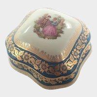 French Limoges Porcelain  Trinket Box