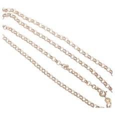 Italian 9 Carat Gold Belcher Style Chain Necklace