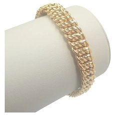 French Gold Filled 'Night and Day' Bracelet