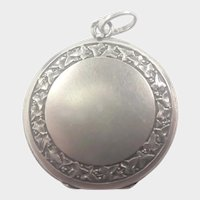 French Antique Silver Ivy Leaf Locket