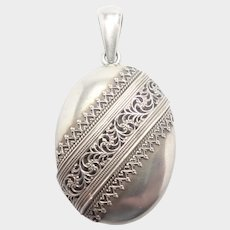 Victorian Sterling Silver Decorative Locket