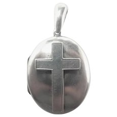 Victorian Sterling Silver Cross Locket