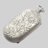 French Art Nouveau 'Porte Louis' Coin Holder - Chestnut Leaves - Dropsy