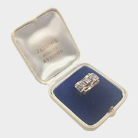 French Art Deco Rock Crystal Silver and 18K Ring