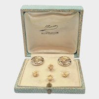 French Gold Filled FIX Cufflink and Stud Set - Boxed
