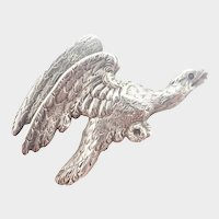 French Antique Silver Eagle Pin