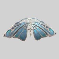 Scottish Silver Enamel Butterfly Pin/Pendant - Pat Cheney
