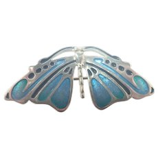 Scottish Silver Enamel Butterfly Pin/Pendant - Pat Cheney