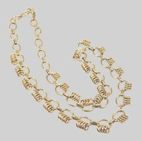 """French Gold Filled Murat Decorative Necklace - 16"""""""