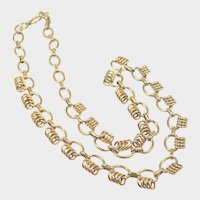 French Gold Filled Murat Decorative Necklace - 16""