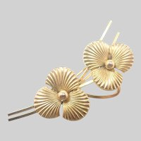 French Gold Filled Pansy Pin - MURAT