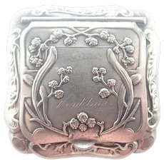 French Art Nouveau Silver Plated Compact