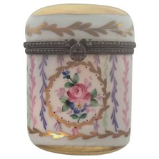 French Limoges Hand Painted Ceramic Box