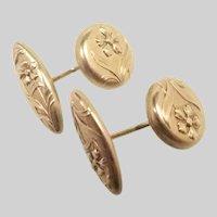 French Art Nouveau 18K Gold Filled 'FIX' Cufflinks
