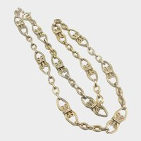 French Antique Silver Vermeil Necklace
