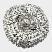 Art Deco German 935 Silver and Marcasite Pin