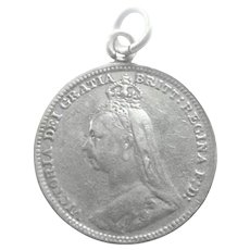 Victorian 1894 Silver Love Token for 'Will'
