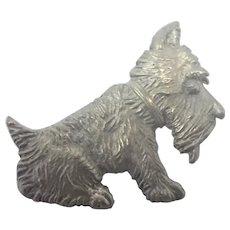 English Art Deco Sterling Silver Scottie Dog Pin