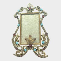 Victorian Brass Acanthus Leaves and Pastes Photo Frame