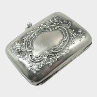Antique Silver Repoussé Silver Purse