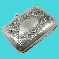 Antique Silver Repoussé Silver Purse