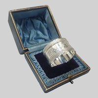 Antique English 1906 Sterling Silver Napkin Ring Boxed