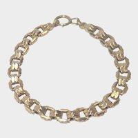 French Art Deco 18K Gold Filled 'FIX' Bracelet