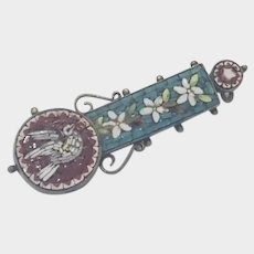 Italian 19th Century Micro Mosaic Dove Pin