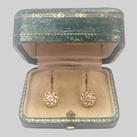 French Antique Gold Filled FIX Earrings Boxed