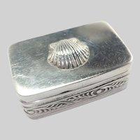 European Antique Silver Scallop Small Box