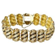 Norwegian Silver Gold Washed Enamel Bracelet - HANS MHYRE