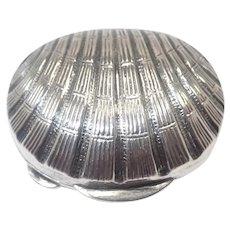 Italian 800 Silver Scallop Shell Pill Box for Christan Dior