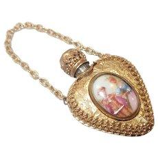 French Limoges Gilt Metal Perfume Pendant
