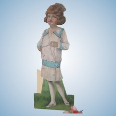 Old Edwardian Large Paper Doll