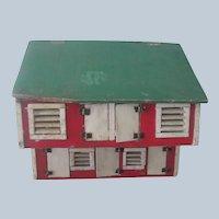 Old Vintage Handmade Chicken Coop Dollhouse Toy c1930