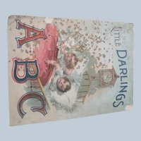 "Old Victorian Children's Book ""Little Darlings ABC"" c1890"