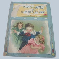 "Old Victorian Children's Book ""Indoor Games and How to Play Them."""