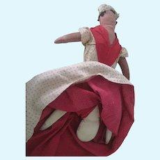 Antique Cloth Topsy Turvy Doll C1900
