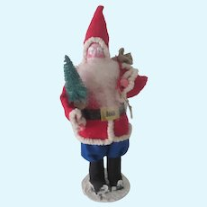 Vintage Artist Made Papier Mache Santa Christmas Doll Figurine