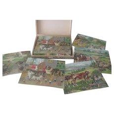 Antique Victorian's Large Children's Block Puzzle Toy c1900