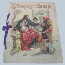 Old Victorian Children's Book Stories from the Bible Mcloughlin Brothers c1903