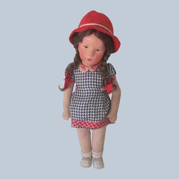 "Vintage 1930's Kathe Kruse Little German Child Doll 14"" All Original"
