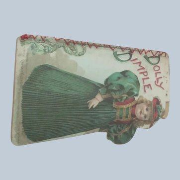 """Old Doll Sized Victorian Children's Book """"Dolly Dimple"""""""