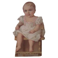 Old Victorian Baby Paper Doll Advertising Card Mellin's Baby Food