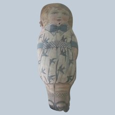 Old Lithographed Cloth Doll c1910