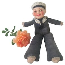 Vintage 1930's - 40's Cloth and Composition Norah Wellings English Sailor Doll